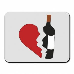 Mouse pad Wine broke my heart