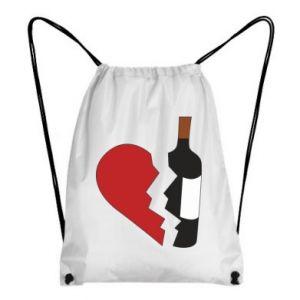Plecak-worek Wine broke my heart
