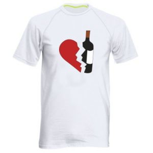 Koszulka sportowa męska Wine broke my heart