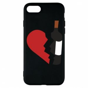 Phone case for iPhone 8 Wine broke my heart