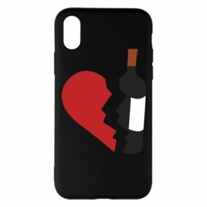 Phone case for iPhone X/Xs Wine broke my heart