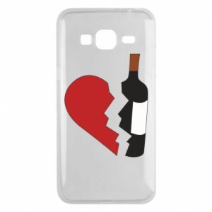 Phone case for Samsung J3 2016 Wine broke my heart