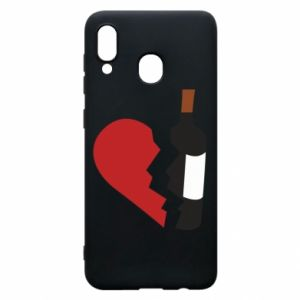 Phone case for Samsung A20 Wine broke my heart