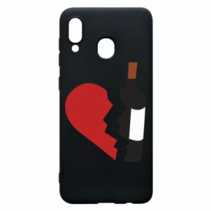 Phone case for Samsung A30 Wine broke my heart