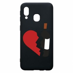 Phone case for Samsung A40 Wine broke my heart