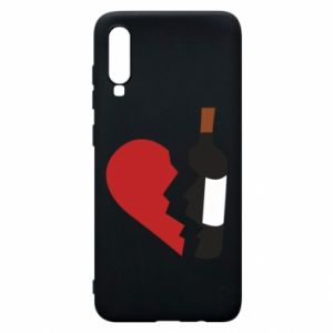 Phone case for Samsung A70 Wine broke my heart
