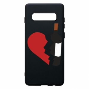 Phone case for Samsung S10+ Wine broke my heart