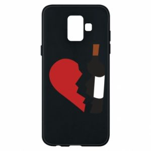 Phone case for Samsung A6 2018 Wine broke my heart