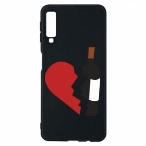 Phone case for Samsung A7 2018 Wine broke my heart