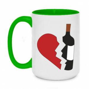 Kubek dwukolorowy 450ml Wine broke my heart