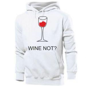 Męska bluza z kapturem Wine not