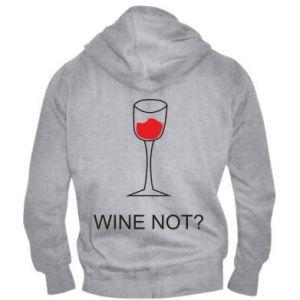 Men's zip up hoodie Wine not - PrintSalon