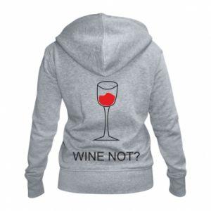 Women's zip up hoodies Wine not - PrintSalon