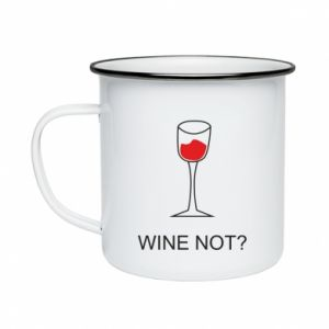 Enameled mug Wine not - PrintSalon