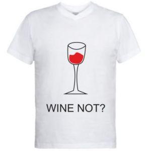 Men's V-neck t-shirt Wine not - PrintSalon