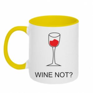Two-toned mug Wine not - PrintSalon