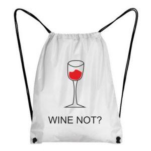Backpack-bag Wine not - PrintSalon