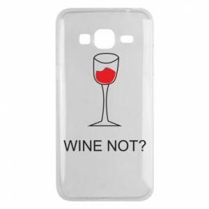 Phone case for Samsung J3 2016 Wine not - PrintSalon