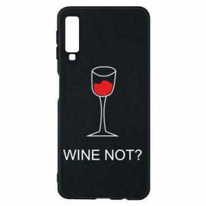 Phone case for Samsung A7 2018 Wine not - PrintSalon