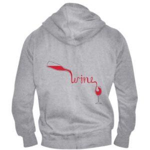 Men's zip up hoodie Wine pouring into glass - PrintSalon