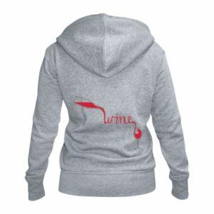 Women's zip up hoodies Wine pouring into glass - PrintSalon