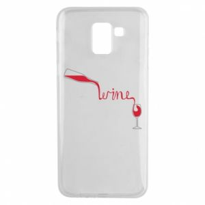 Etui na Samsung J6 Wine pouring into glass