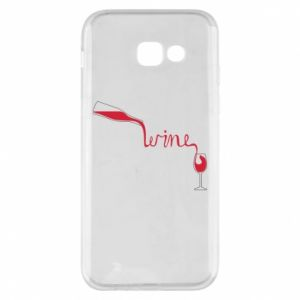 Etui na Samsung A5 2017 Wine pouring into glass