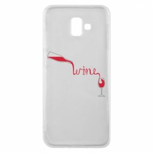 Etui na Samsung J6 Plus 2018 Wine pouring into glass