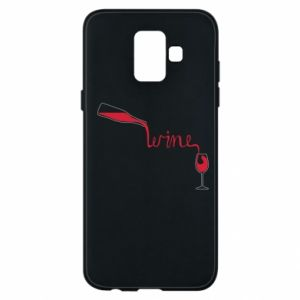 Etui na Samsung A6 2018 Wine pouring into glass