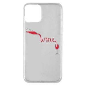 Etui na iPhone 11 Wine pouring into glass