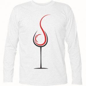 Koszulka z długim rękawem Wine pours