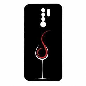 Etui na Xiaomi Redmi 9 Wine pours