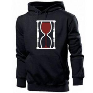 Męska bluza z kapturem Wine time