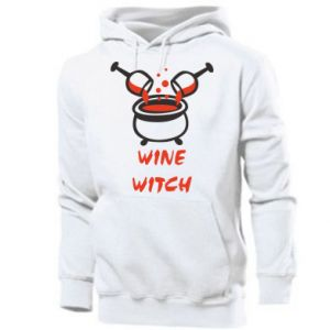 Men's hoodie Wine witch - PrintSalon