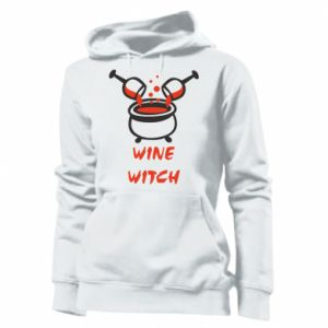 Women's hoodies Wine witch - PrintSalon
