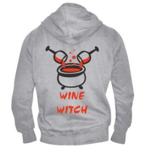 Men's zip up hoodie Wine witch - PrintSalon
