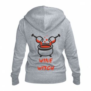 Women's zip up hoodies Wine witch - PrintSalon