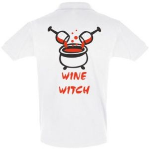 Men's Polo shirt Wine witch - PrintSalon
