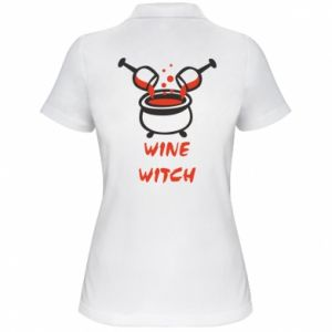 Women's Polo shirt Wine witch - PrintSalon