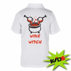 Children's Polo shirts Wine witch - PrintSalon