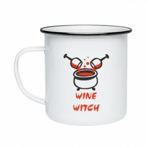 Enameled mug Wine witch - PrintSalon