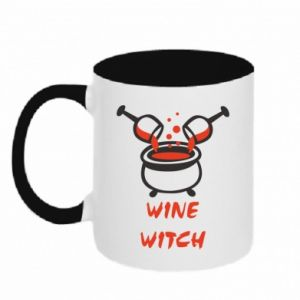 Two-toned mug Wine witch - PrintSalon