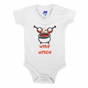 Baby bodysuit Wine witch - PrintSalon