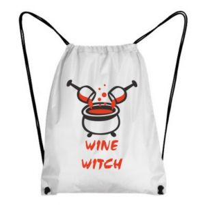 Backpack-bag Wine witch - PrintSalon