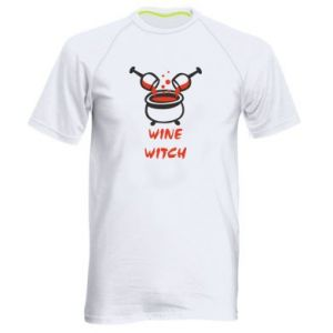 Men's sports t-shirt Wine witch - PrintSalon