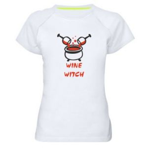Women's sports t-shirt Wine witch - PrintSalon