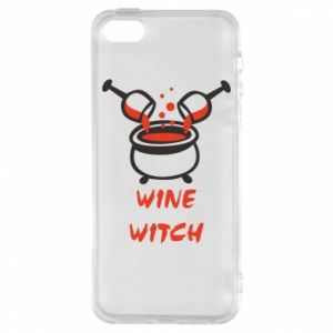 Phone case for iPhone 5/5S/SE Wine witch - PrintSalon