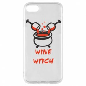 Phone case for iPhone 8 Wine witch - PrintSalon