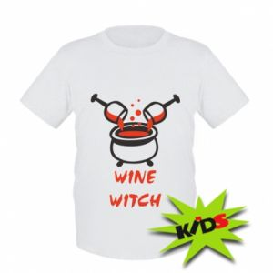 Kids T-shirt Wine witch