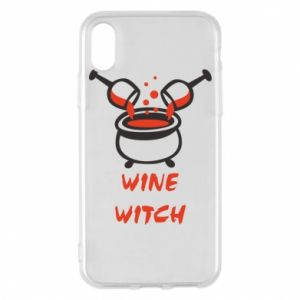 Phone case for iPhone X/Xs Wine witch - PrintSalon